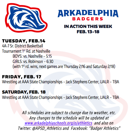 This Week in APSD Athletics: Feb. 13-18