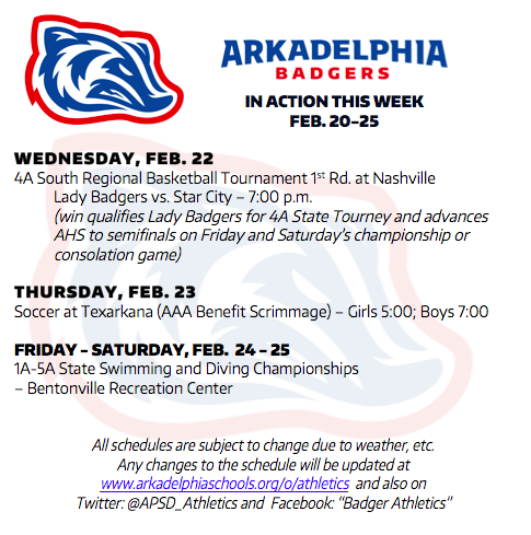 This Week in APSD Athletics: Feb. 20-25