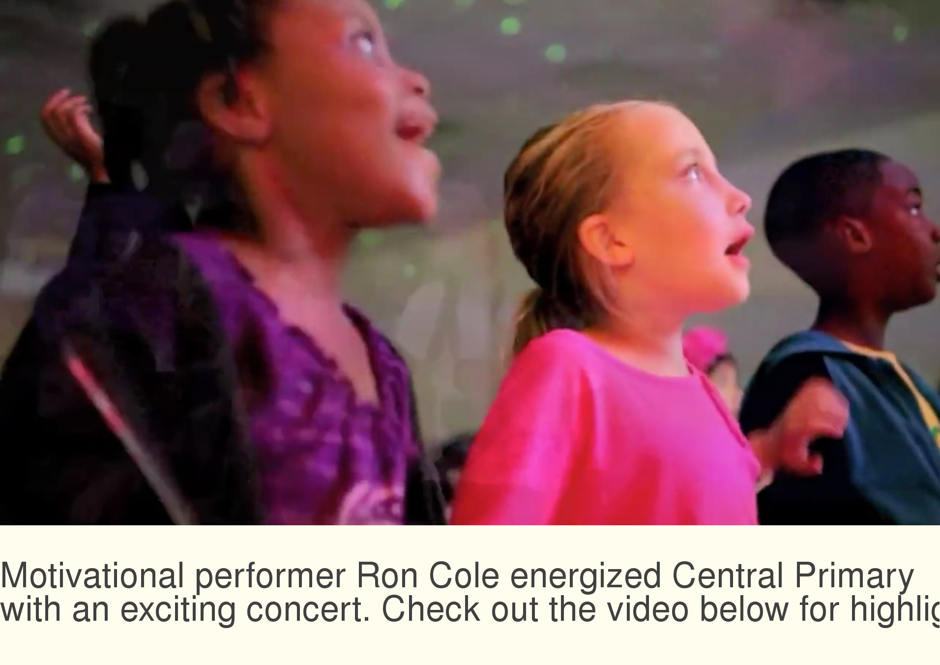 Ron Cole energizes Central Primary