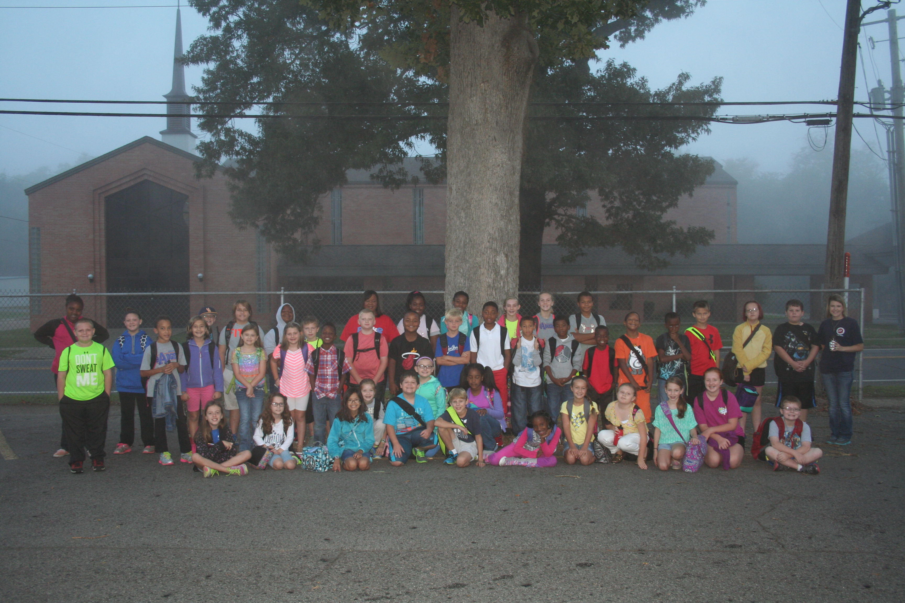 Peake Students Walk to School