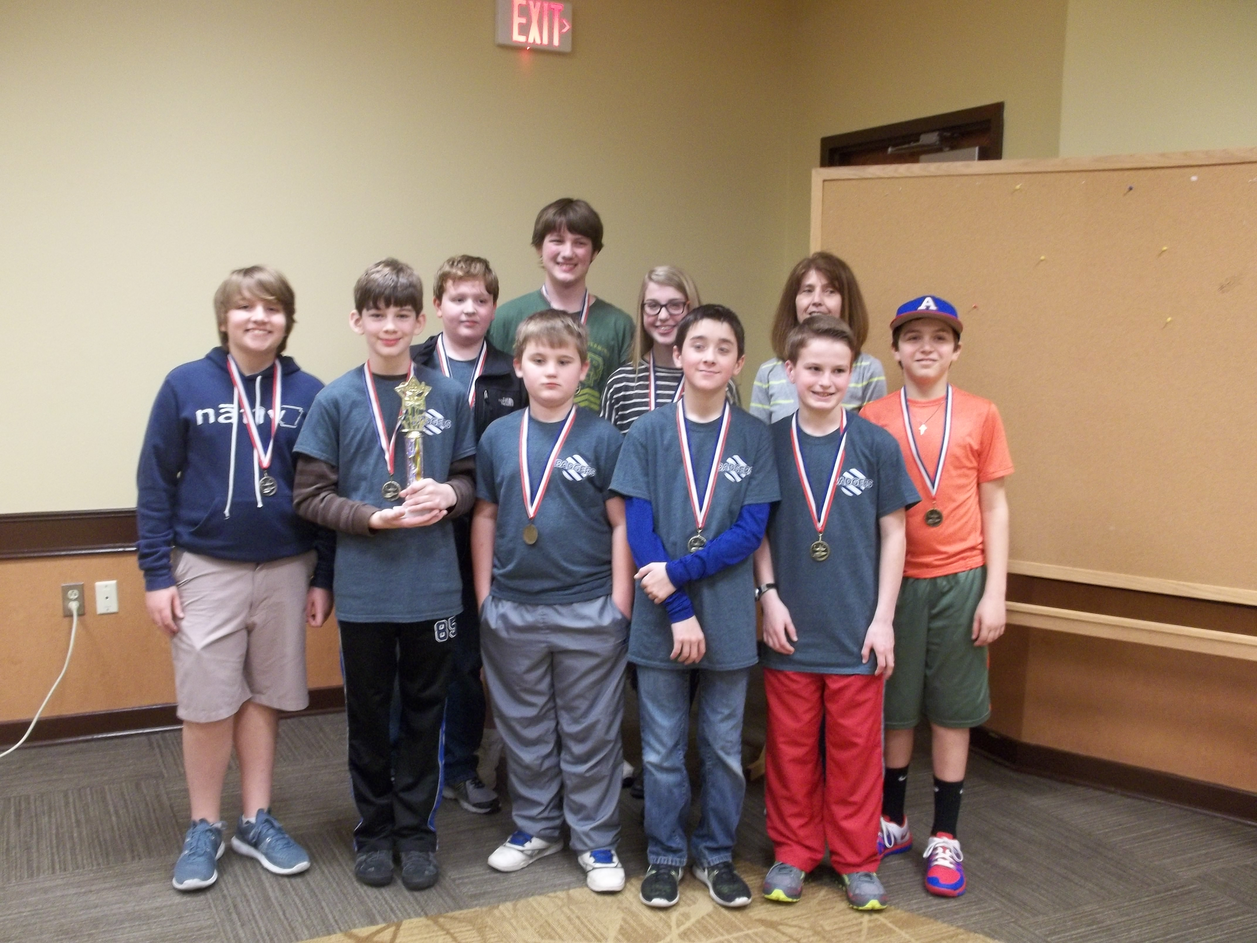 Goza chess team places first in Dawson Cooperative Invitational Tournament