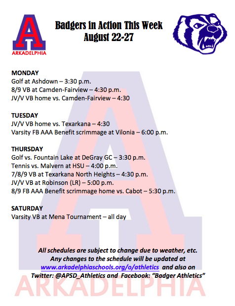 This Week in APSD Athletics - August 22-27