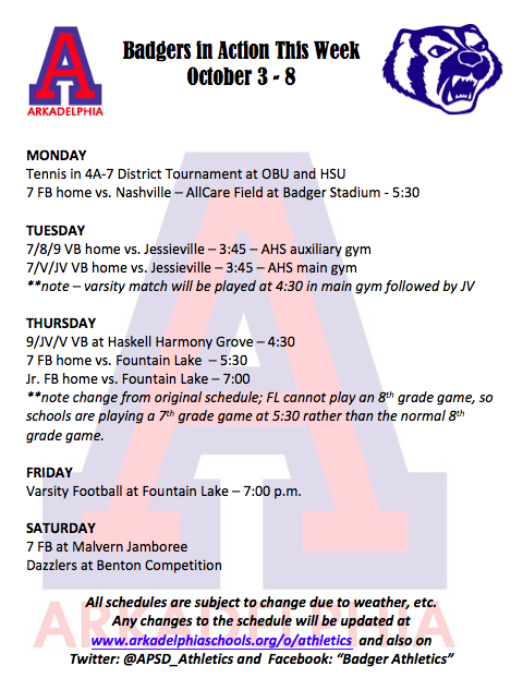 This Week in APSD Athletics: October 3-8