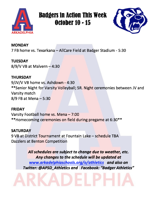 This Week in APSD Athletics: October 10-15
