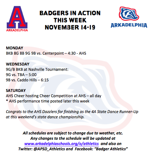 This Week in APSD Athletics: Nov. 14-19