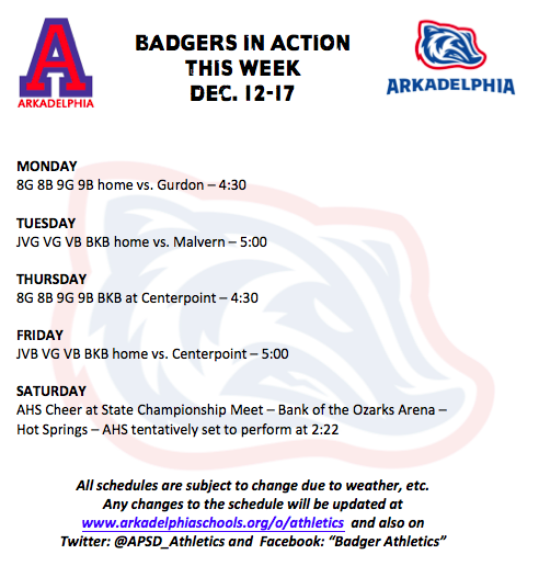 This Week in APSD Athletics: Dec. 12-17