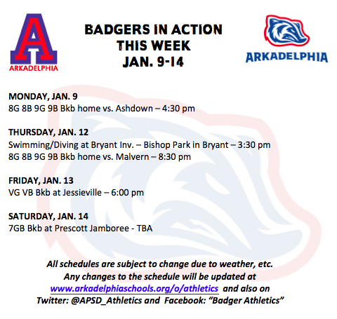 This Week in APSD Athletics: Jan. 9-14