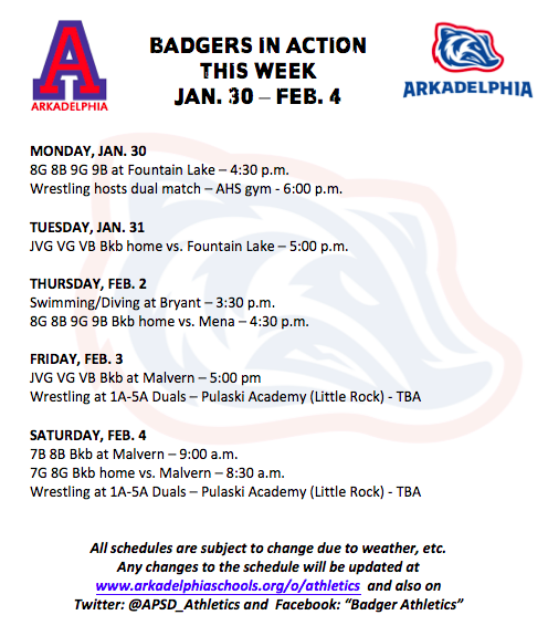 This Week in APSD Athletics: Jan. 30 - Feb. 4