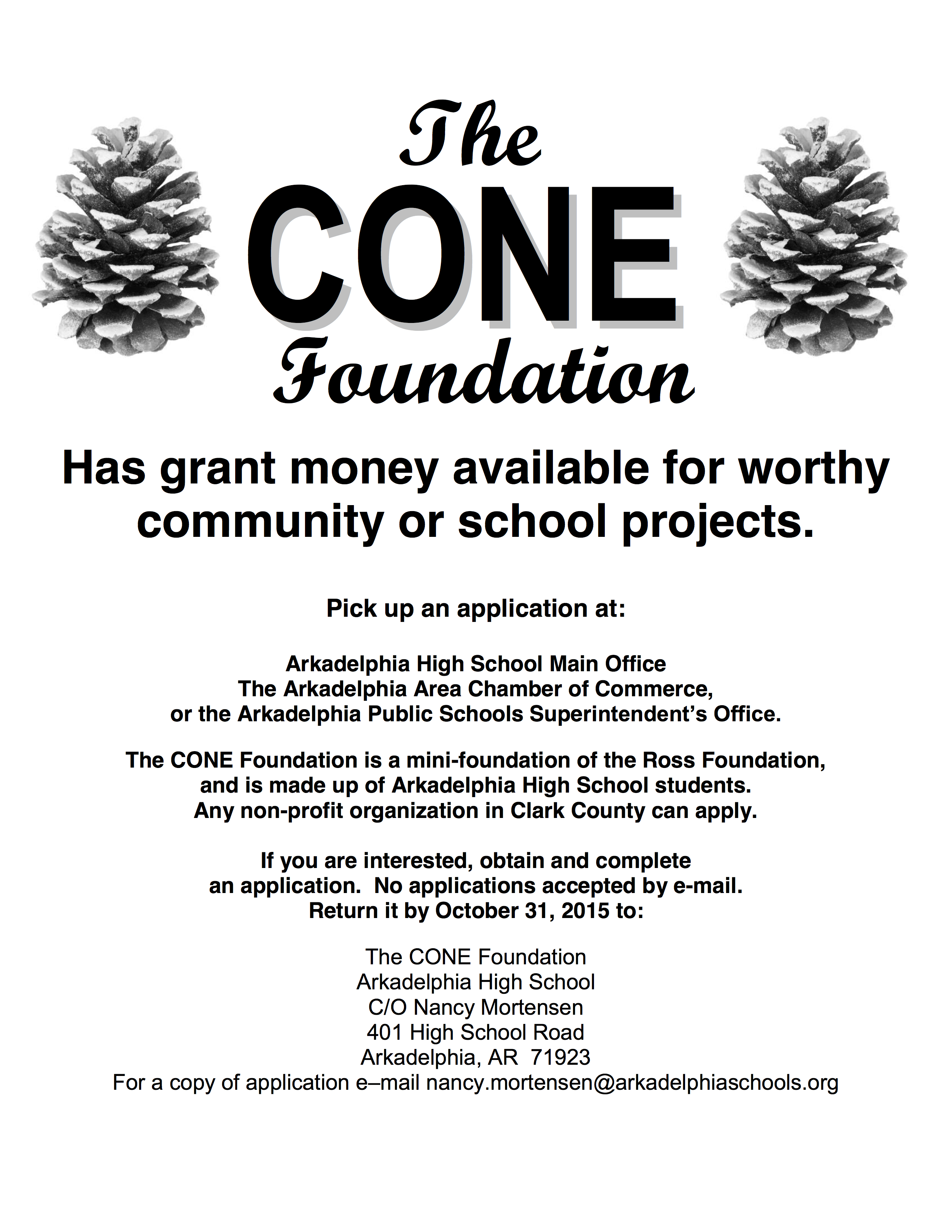 CONE Foundation Applications