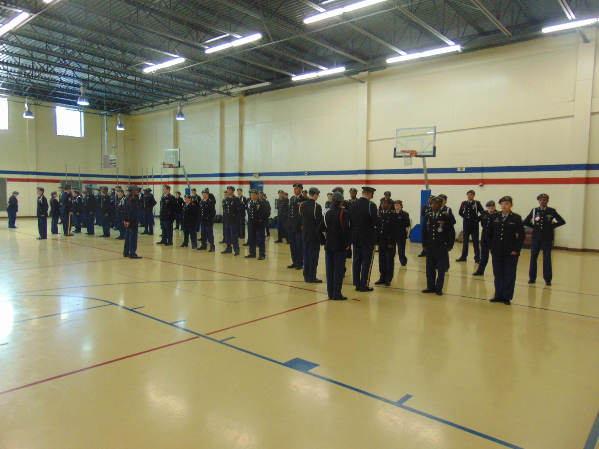 JROTC retains highest rating during Program of Accreditation inspection
